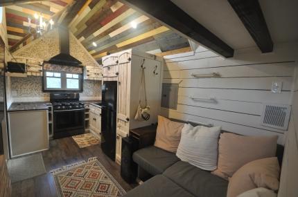 Cozy couch nook, storage underneath